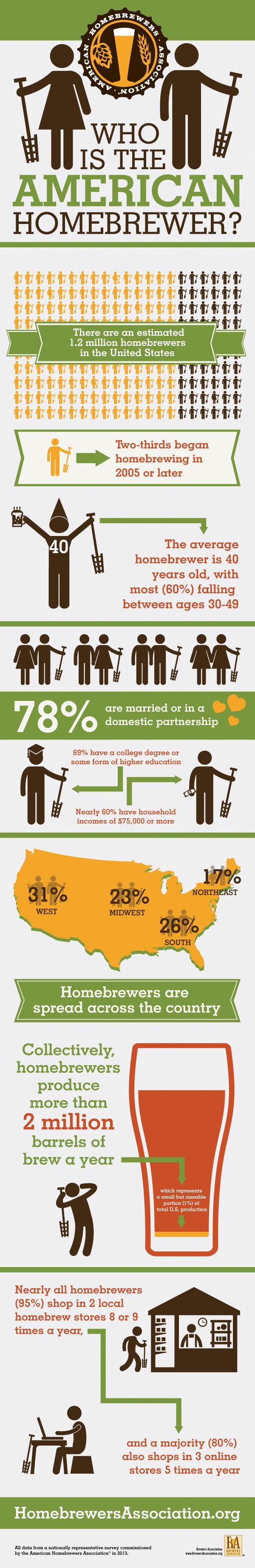 2013 Homebrewer Demographics Infographic