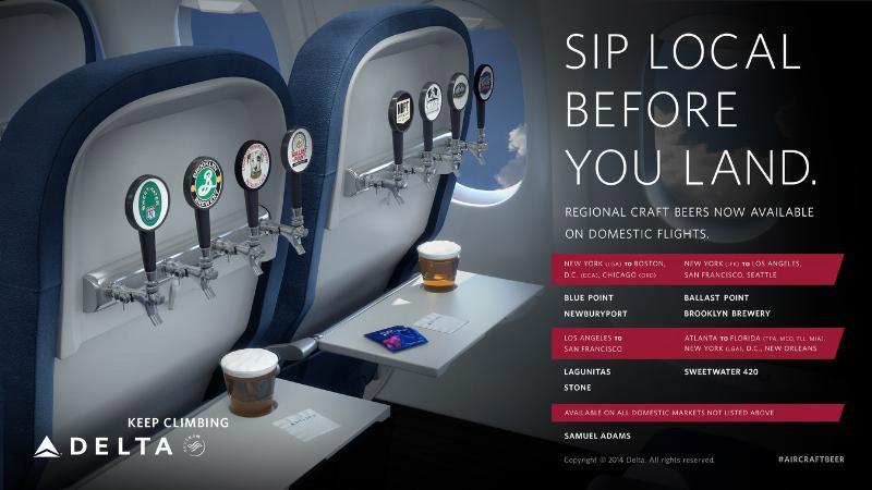 Delta Airlines Craft Beer