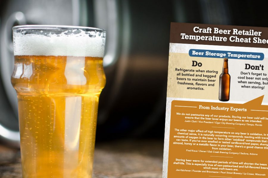 craft beer retailer temperature cheat sheet