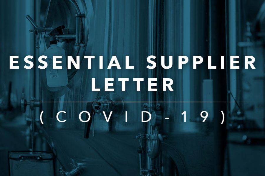 Essential Supplier Letter
