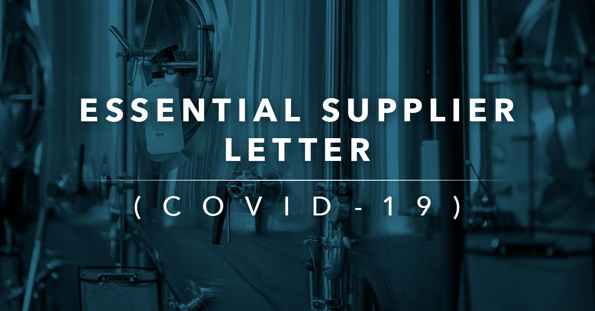 Essential Supplier Letter